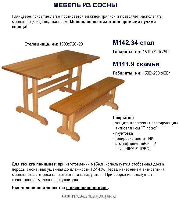 Мебель чертежи для дачи